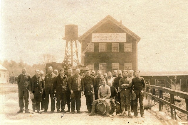 Androscoggin Pulp Mill on the Saco River in Steep Falls back in the day.
